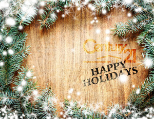 Button to customize design Century 21 Holiday Greeting Cards Portrait Template: 579171