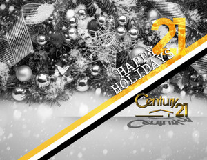 Button to customize design Century 21 Holiday Greeting Cards Portrait Template: 579175