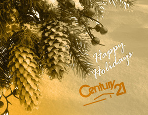 Button to customize design Century 21 Holiday Greeting Cards Portrait Template: 579177