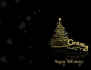 Button to customize design Century 21 Holiday Greeting Cards Portrait Template: 370027