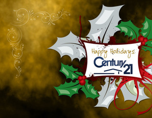 Button to customize design Century 21 Holiday Greeting Cards Portrait Template: 517435