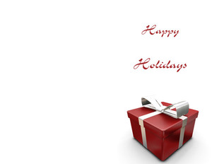 Presents Greeting Cards Portrait Template: 323083