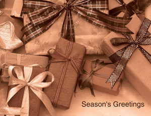 Presents Greeting Cards Portrait Template: 323923