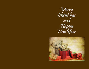 Presents Greeting Cards Portrait Template: 324463