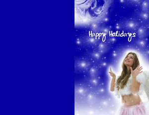 People Greeting Cards Portrait Template: 324048