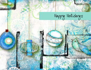 Ornaments Greeting Cards Portrait Template: 323102