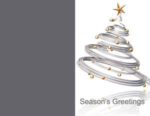 Ornaments Greeting Cards Portrait Template: 324412
