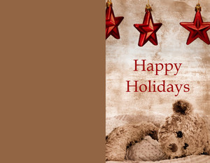 Ornaments Greeting Cards Portrait Template: 324425