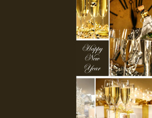 New Year Greeting Cards Portrait Template: 324431
