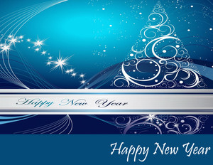 New Year Greeting Cards Portrait Template: 323129