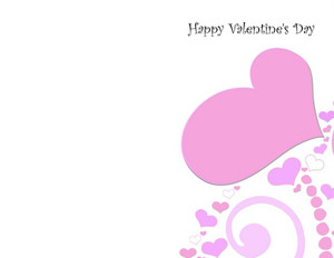 Valentine's Greeting Cards Portrait Template: 333727