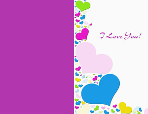 Valentine's Greeting Cards Portrait Template: 333711