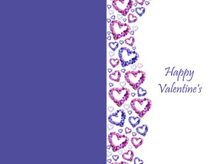 Valentine's Greeting Cards Portrait Template: 333712