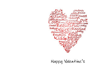 Valentine's Greeting Cards Portrait Template: 333713