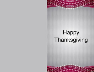 Thanksgiving Greeting Cards Portrait Template: 333682