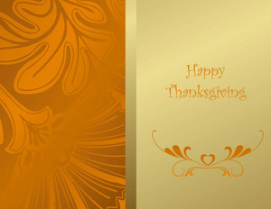 Thanksgiving Greeting Cards Portrait Template: 333683
