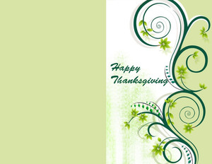 Thanksgiving Greeting Cards Portrait Template: 333687