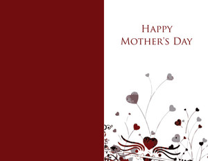 Mother's Day Greeting Cards Portrait Template: 333671