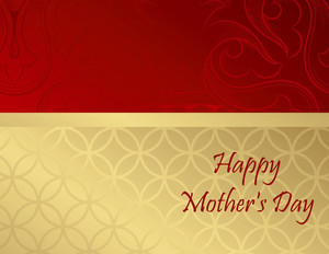 Button to customize design Mother's Day Greeting Cards Portrait Template: 333463
