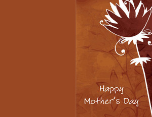 Mother's Day Greeting Cards Portrait Template: 333467