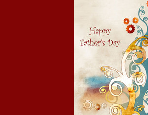 Father's Day Greeting Cards Portrait Template: 333639