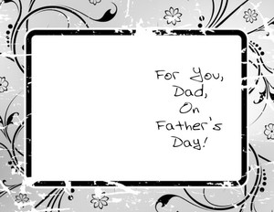 Father's Day Greeting Cards Portrait Template: 333630
