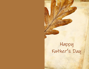 Father's Day Greeting Cards Portrait Template: 333634