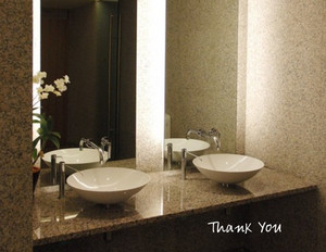Button to customize design Washroom Greeting Cards Portrait Template: 328754