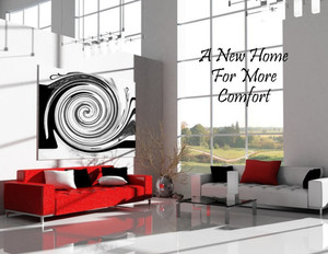 Button to customize design Living room Greeting Cards Portrait Template: 320804