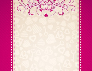 Button to customize design Patterns-Borders Greeting Cards Portrait Template: 333180