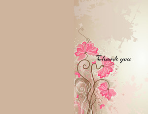 Button to customize design Floral Greeting Cards Portrait Template: 344543