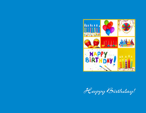 Button to customize design Child Greeting Cards Portrait Template: 350037