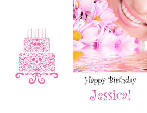 Birthday Party Greeting Cards Portrait Template: 349231