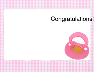 Greeting/Baby Girl Greeting Cards Portrait Template: 349746
