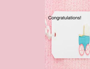 Greeting/Baby Girl Greeting Cards Portrait Template: 349747