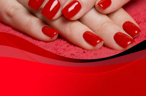 Nails / Manicures Postcards Template: 598957