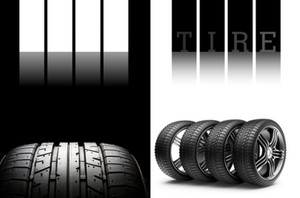 Automotive-Tires Postcards Template: 598593