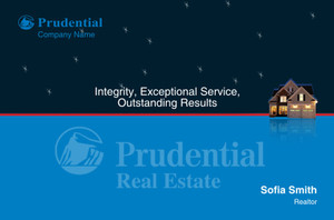 Prudential Postcards Template: 315409