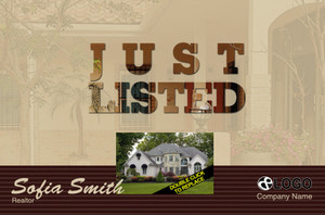 Just Sold / Listed Postcards Template: 319088