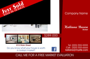 Just Sold / Listed Postcards Template: 539939