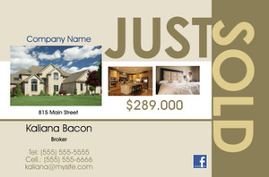 *Real Estate Postcards Template: 540081