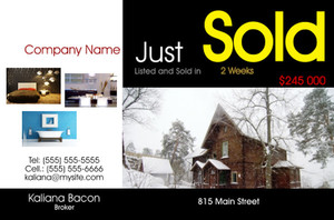 *Real Estate Postcards Template: 540287