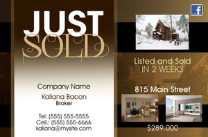 *Real Estate Postcards Template: 540059