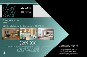 *Real Estate Postcards Template: 540063