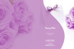 Florists Pocket Folders Template: 598019