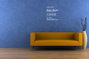 Button to customize design Living room Pocket Folders Template: 316745