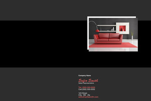 Button to customize design Living room Pocket Folders Template: 316749