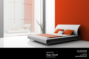 Button to customize design Bedrooms Pocket Folders Template: 327771