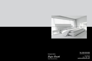Button to customize design Bedrooms Pocket Folders Template: 327835