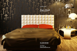 Button to customize design Bedrooms Pocket Folders Template: 327867
